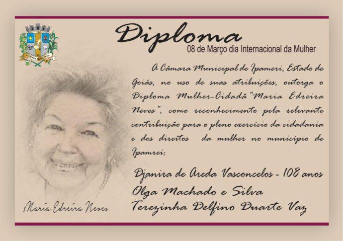 """Câmara de Ipameri presta homenagens pelo """"Dia Internacional da Mulher"""""""
